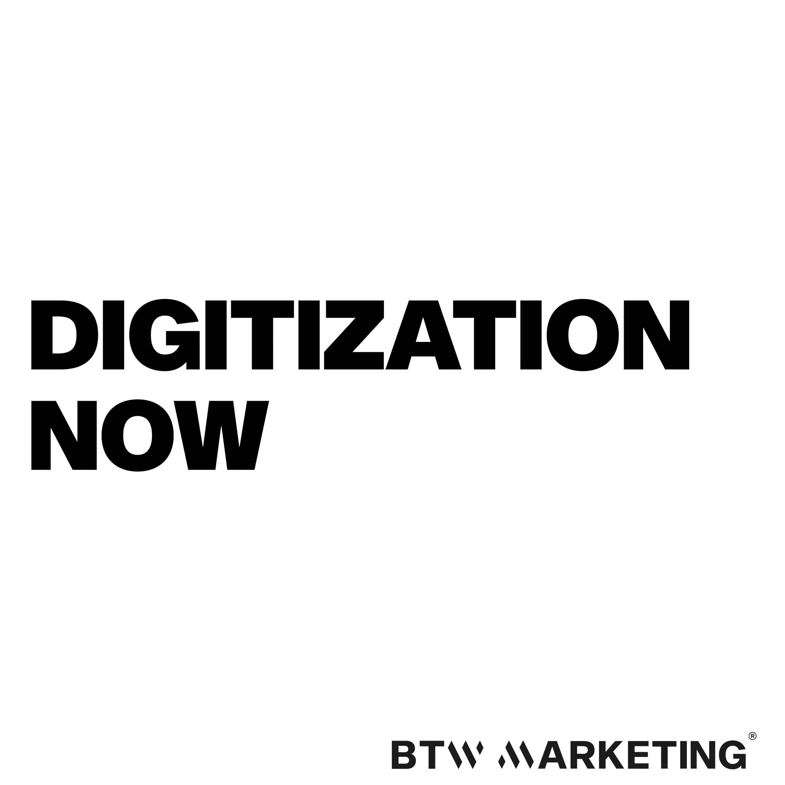 Digitalisiert euch, JETZT!